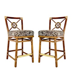 Pair of McGuire Bar Stools