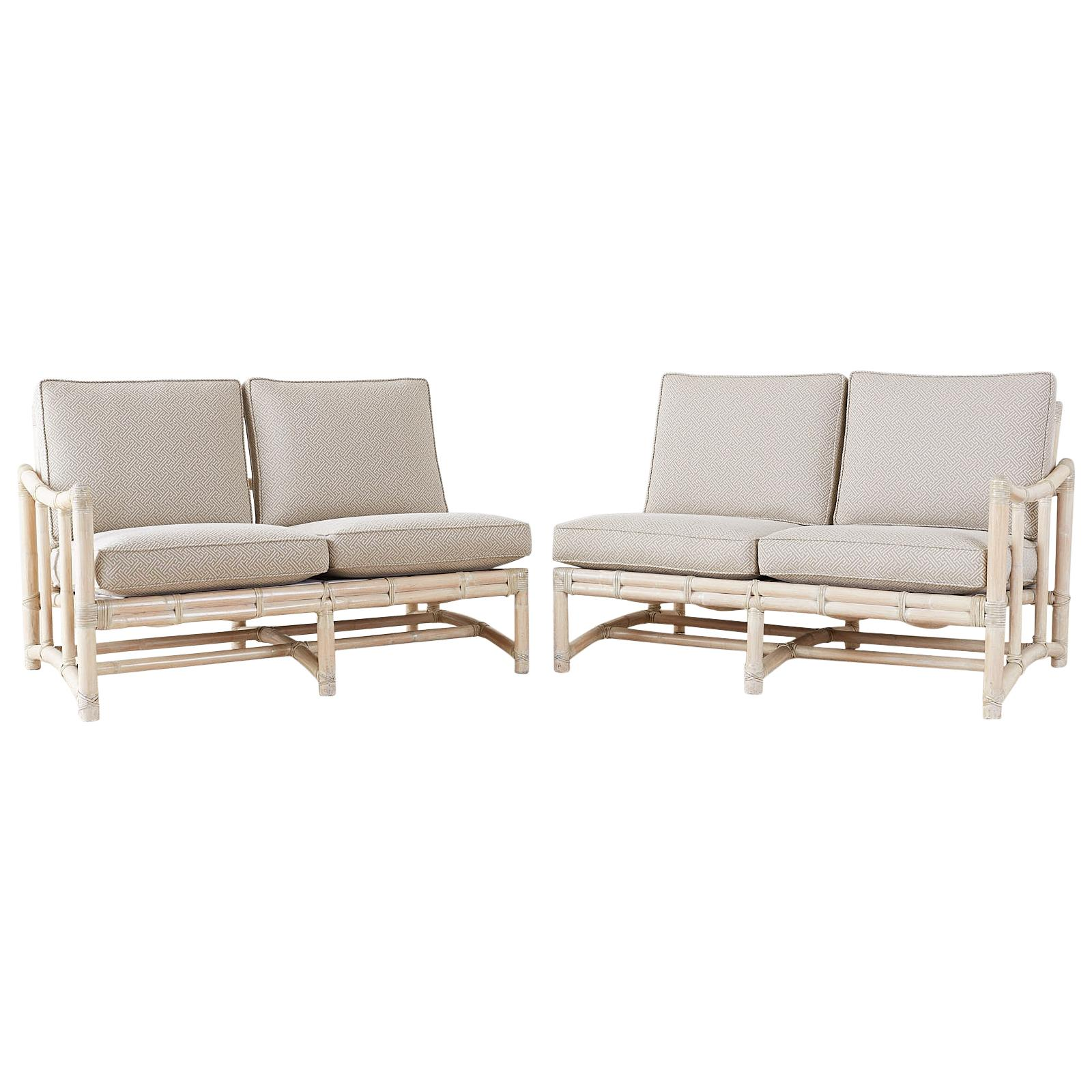 Awesome Pair Of Mcguire California Modern Sectional Sofas Machost Co Dining Chair Design Ideas Machostcouk
