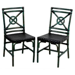 Pair of McGuire Target Back Side Chairs