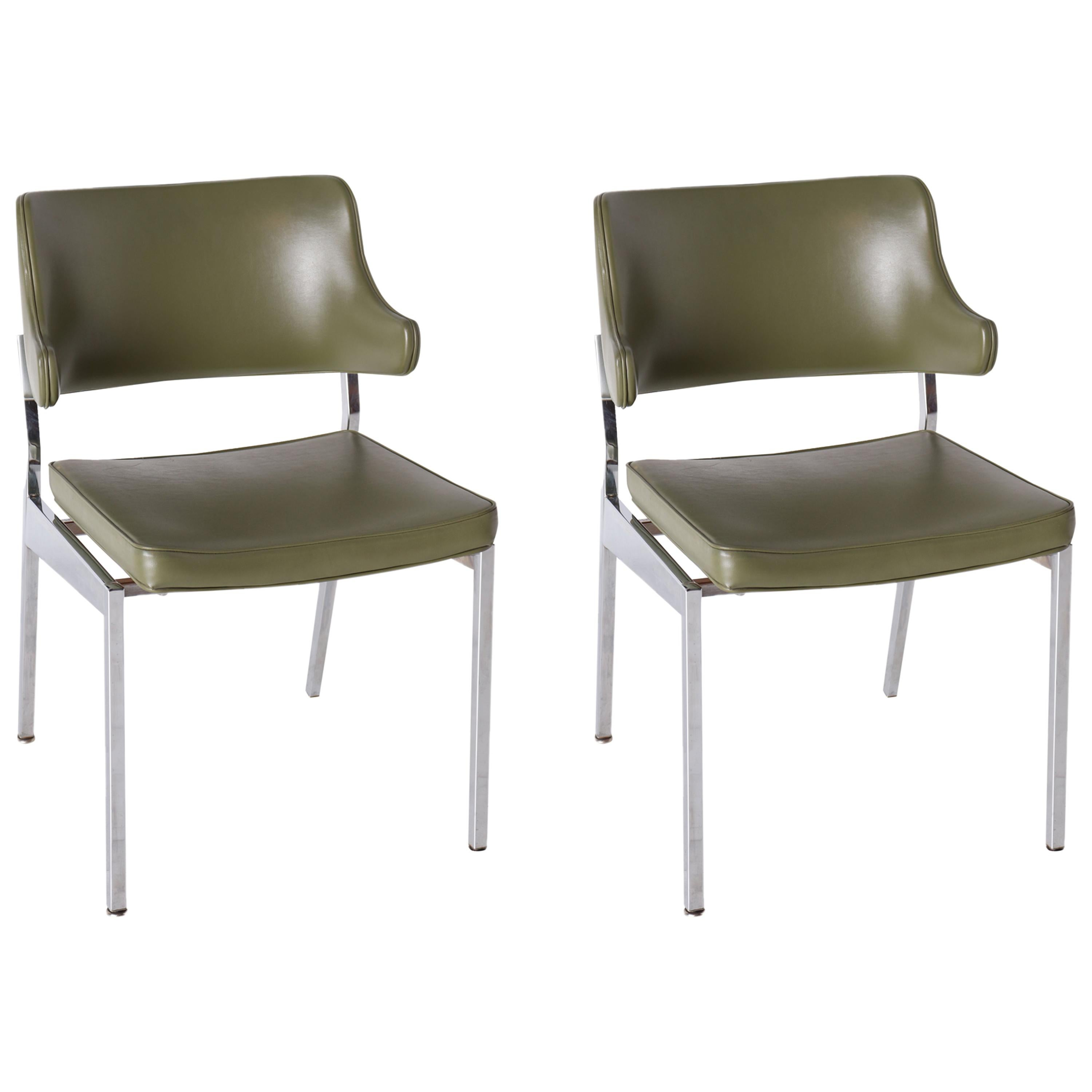 Pair of MCM Chrome Chairs