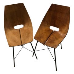"Pair of ""Medea"" Chairs by Vittorio Nobili, circa 1955"