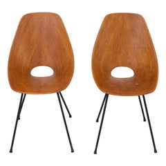 Pair of 'Medea' Dining Chairs by Vitorio Nobili, Italy, 1950s