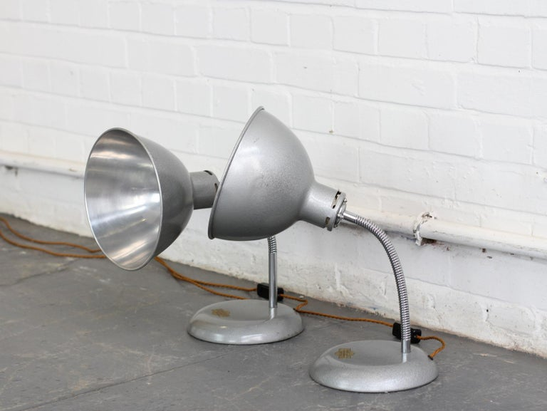 Mid-20th Century Pair of Medical Lamps by Stephen Glover, circa 1940s For Sale