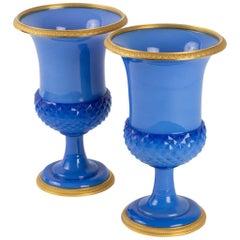 Pair of Medici Opaline Vase, Charles X Period