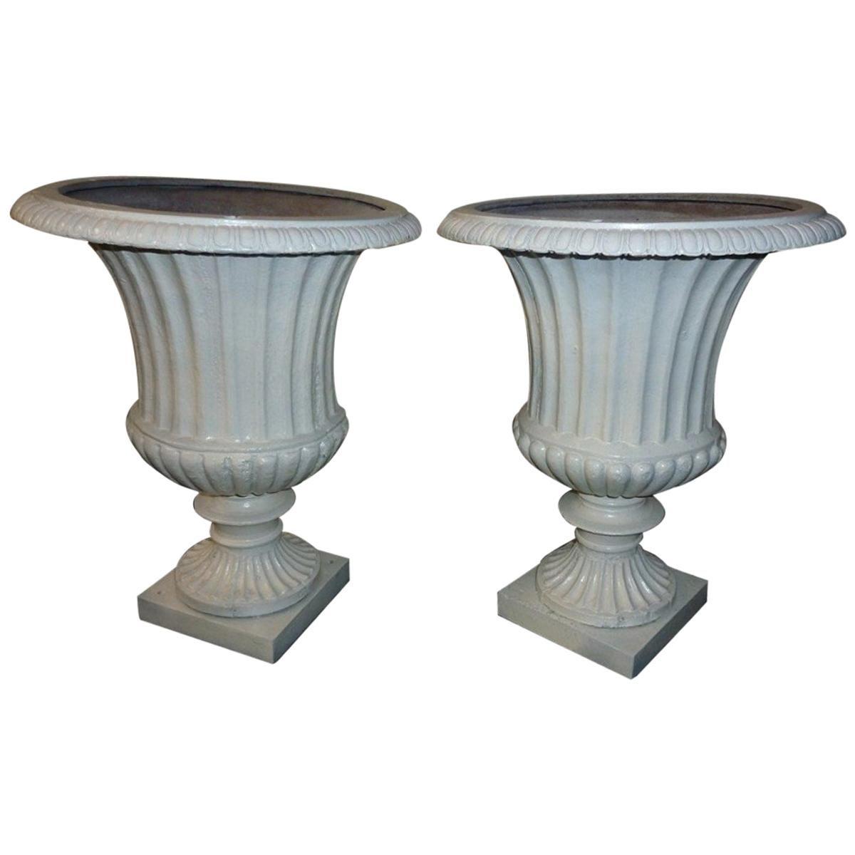Pair of Medicis Cast Iron Vases, France