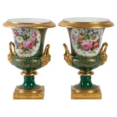 Pair of Medicis Vases in Porcelain