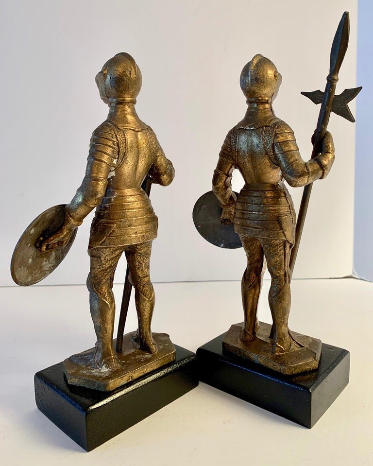 Pair of Medieval Knight Bookends For Sale 3