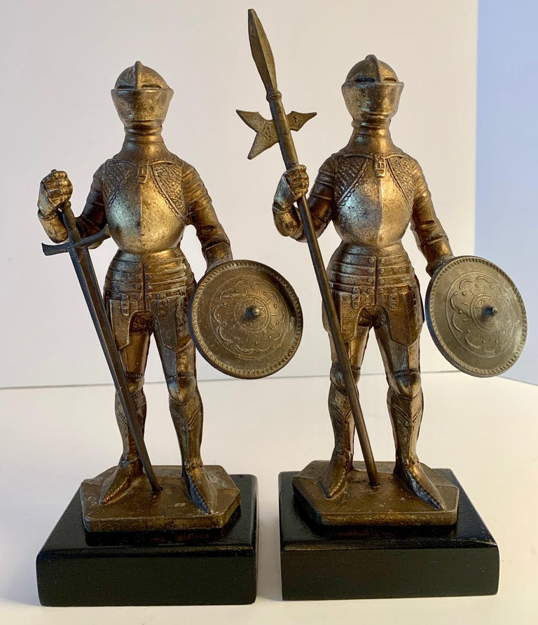 Pair of Medieval Knight Bookends For Sale 1