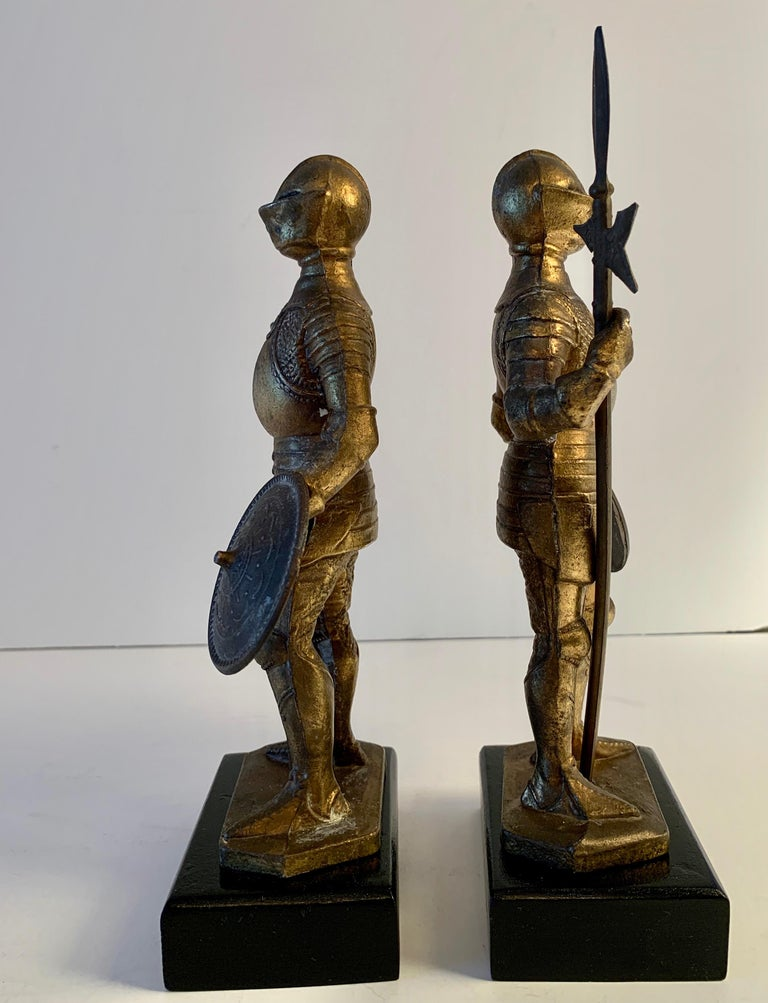 Pair of Medieval Knight Bookends For Sale 2
