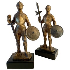 Pair of Medieval Knight Bookends