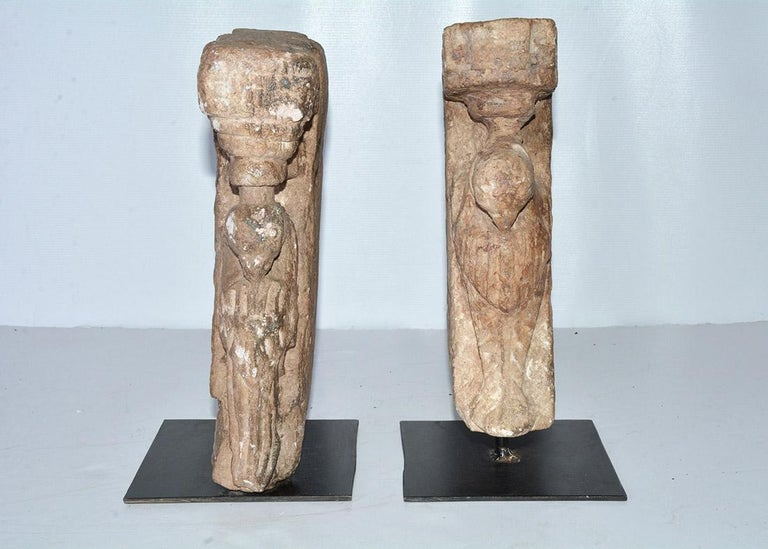 19th Century Pair of Medieval Style Architectural Stone Sculptures For Sale