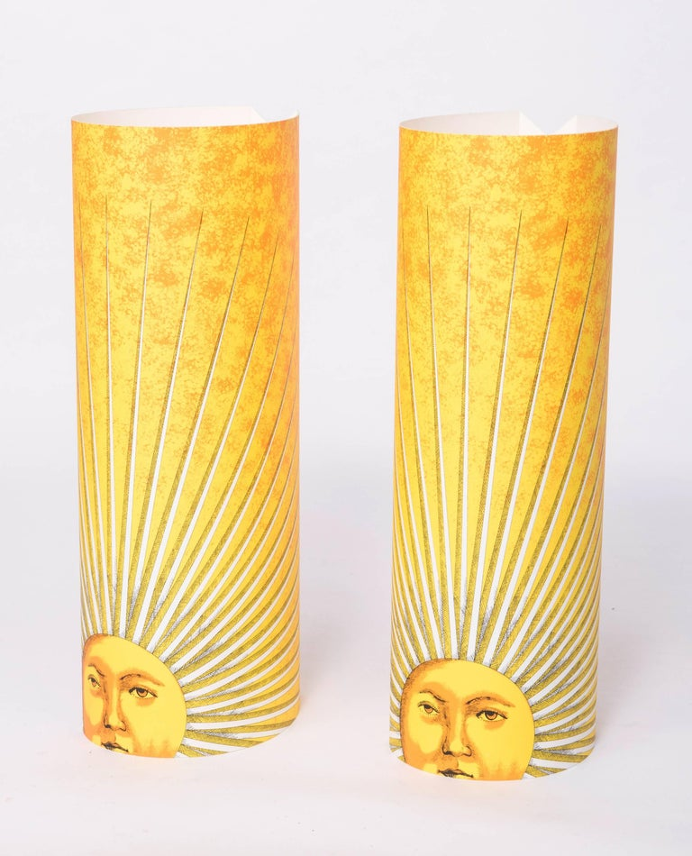 Italian Pair of Medium Size Perspex Table Lamps