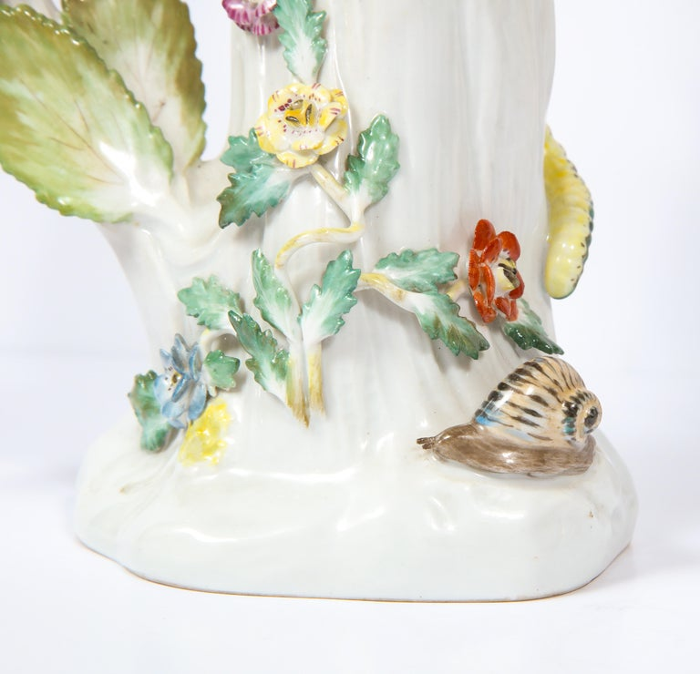 Pair of Meissen Porcelain Figures of Parrots with Cherries, Insects and Flowers For Sale 12