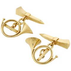 Pair of Mellerio Nail and Horn Cufflinks