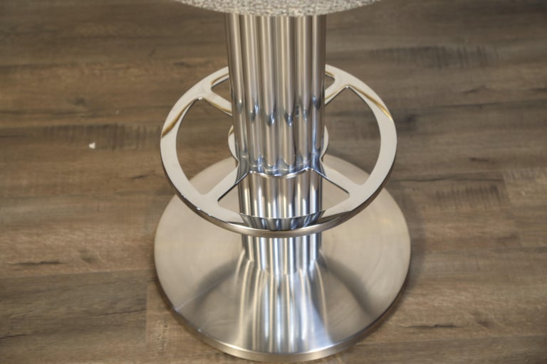 Pair of Memory Swivel Polished Aluminum Barstools by Designs for Leisure, 1980s For Sale 10
