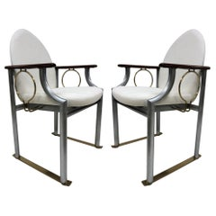 Pair of Memphis Style Armchairs