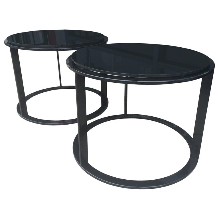 """Pair of """"Mera"""" Side Tables by Antonio Citterio for B&B Italia For Sale"""