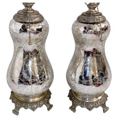 Pair of Mercury Glass Lamps