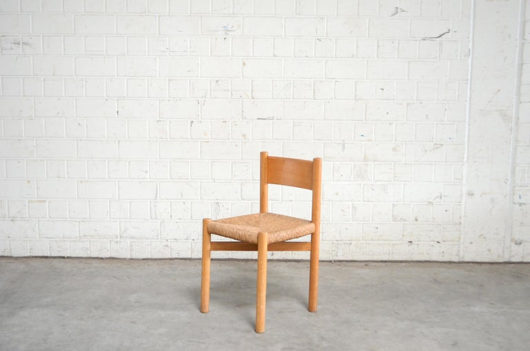20th Century Pair of Meribel Chairs Chair  by Charlotte Perriand, circa 1950 For Sale