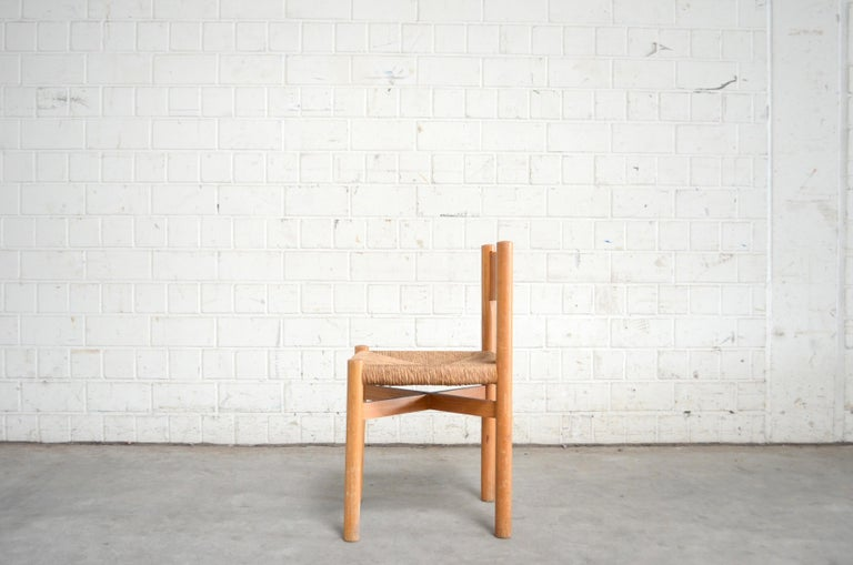 Papercord Pair of Meribel Chairs Chair  by Charlotte Perriand, circa 1950 For Sale