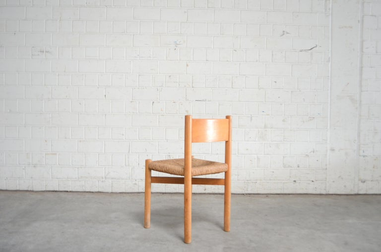 Pair of Meribel Chairs Chair  by Charlotte Perriand, circa 1950 For Sale 1