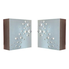 "Pair of Metal ""Tear Cut"" Wall Sconces from Raak Amsterdam, 1960s"