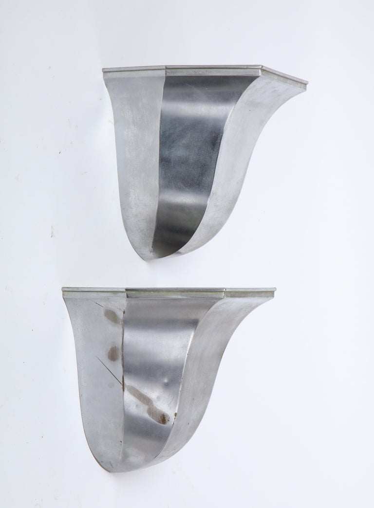 Pair of Metal Tulip-Form Wall Uplights, Modern For Sale 6