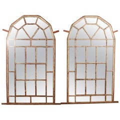 Pair of Metal Window Mirrors