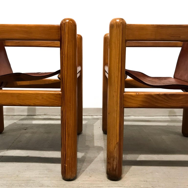 Pair of Mexican armchairs.