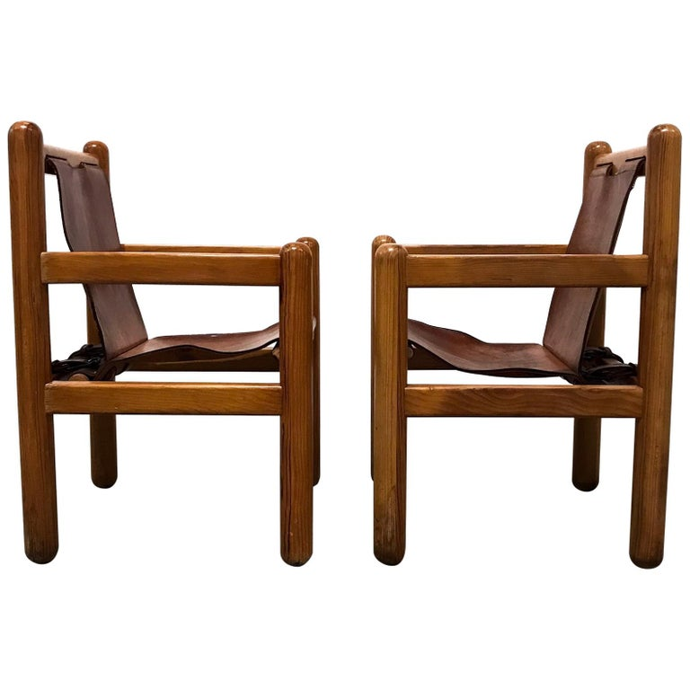 Pair of Mexican Armchairs For Sale