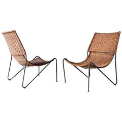 Pair of Mexican Woven Chairs