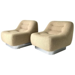 Pair of M.F. Harty Tomorrow Lounge Chairs for Stow Davis