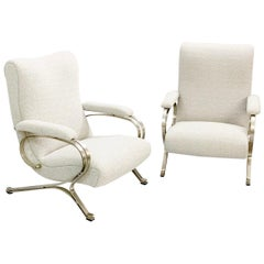 "Pair of ""Micaela"" Armchairs by Gianni Moscatelli, Formanova, 1970s"