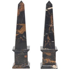 Pair of Michael Angelo Marble Obelisks