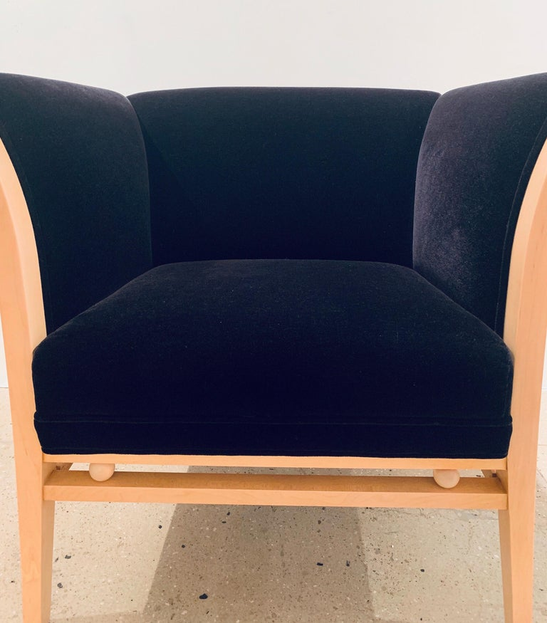 Post-Modern Pair of Michael Grave 1990s Club Chairs For Sale
