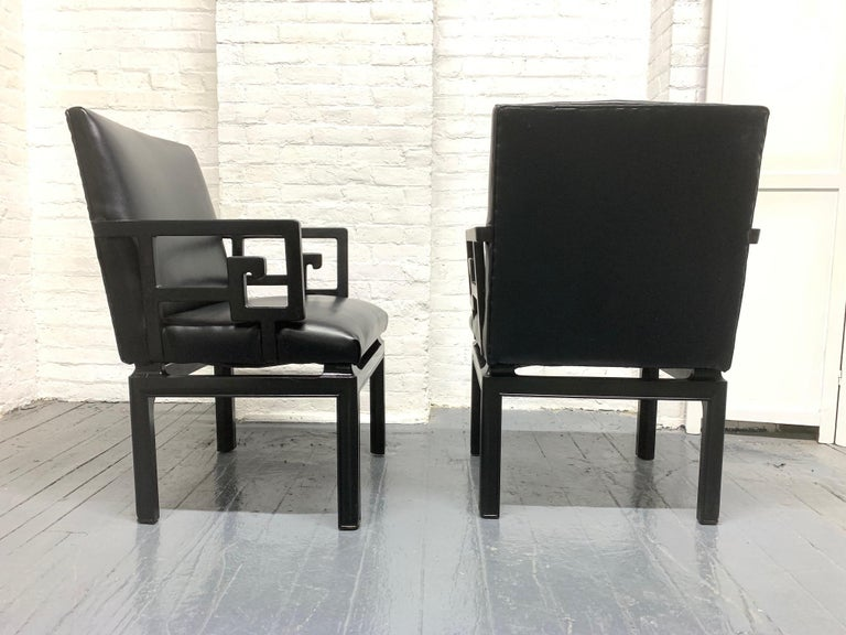 Modern Pair of Michael Taylor for Baker Armchairs For Sale