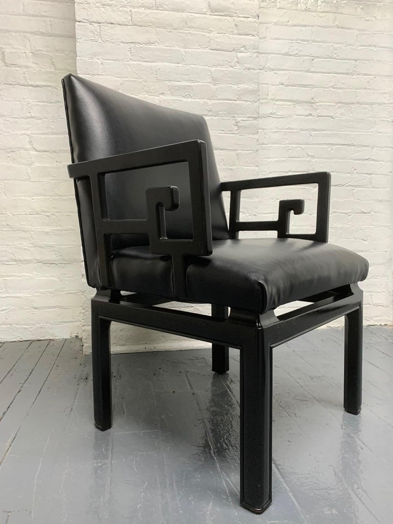 Lacquered Pair of Michael Taylor for Baker Armchairs For Sale