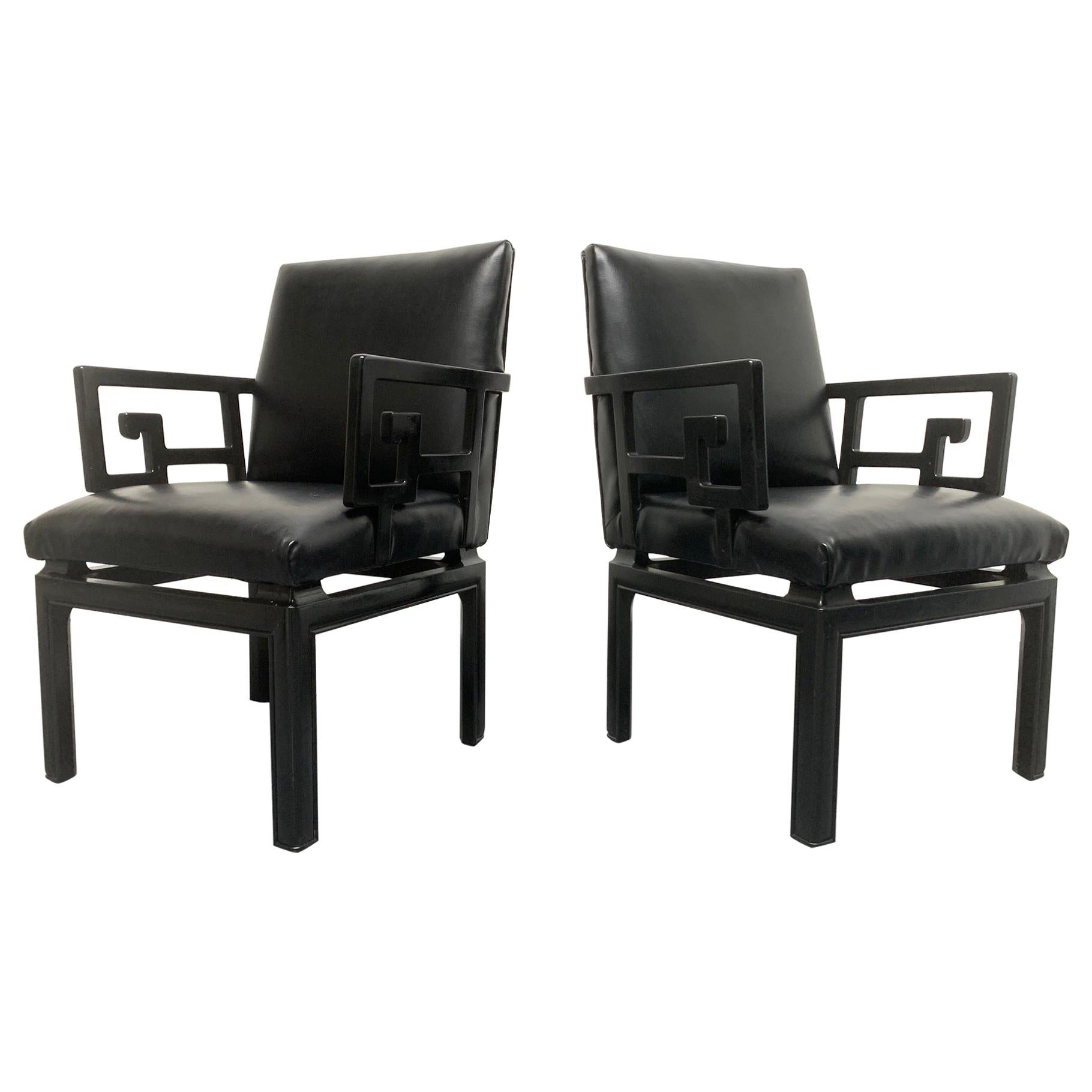 Pair of Michael Taylor for Baker Armchairs