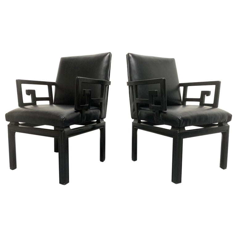 Pair of Michael Taylor for Baker Armchairs For Sale