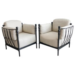 Pair of Michael Taylor Montecito Lounge Chairs