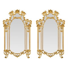 Pair of Mid-18th Century Tuscan Giltwood Mirrors