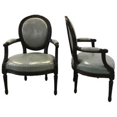 Pair of Mid-19th Century Louis XVI Style Armchairs