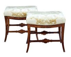 Pair of mid 19th Century palisander stools