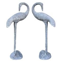 Pair of Mid-20th Century Aluminum Cranes