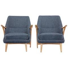 Pair of Mid-20th Century Armchairs by Svante Skogh for Seffle Mobelfabrik