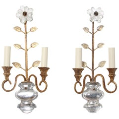 Pair of Mid-20th Century Baguès Style Wall Sconces