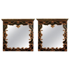 Pair of Mid-20th Century Baroque Style Mirror