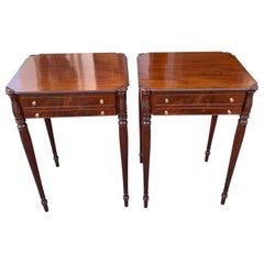 Pair of Mid-20th Century Custom Federal End Tables in Style of Samuel McIntire