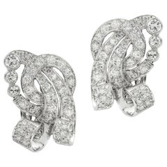 Pair of Mid-20th Century Diamond Clip Earring