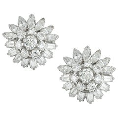 Pair of Mid-20th Century Diamond Earrings
